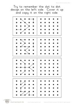 Memory Dot Designs 5x5