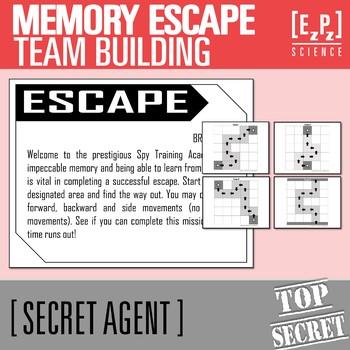 Memory Escape- Secret Agent Activity