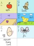 Memory Flash cards to teach alphabet (G-L)