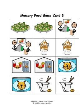 Memory Food Game