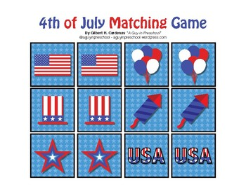 Memory Game - 4th of July Theme