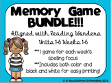 Memory Game BUNDLE!!!---Aligned with Reading Wonders Units