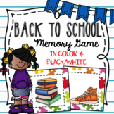 Memory Game~ Back to School