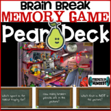 Memory Game Brain Break Distance Learning Pear Deck/Google Slides