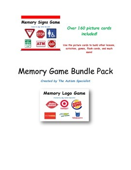 Memory Game Bundle Pack for Autism Students
