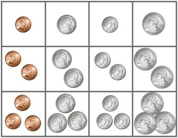 Counting Coins Memory Game