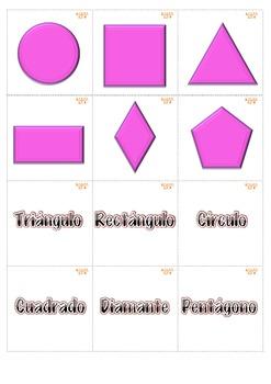 Memory Game Figuras de 2 dimensiones. Math Centers K-1st S