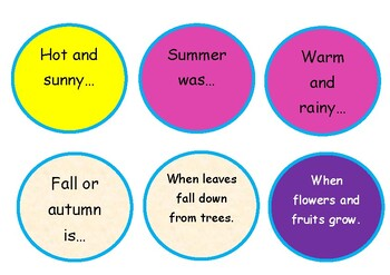 Memory Game - Four Seasons and Weather