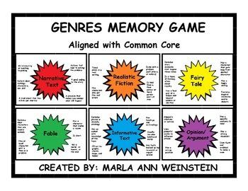 Genres Memory Game