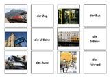 Memory Game - German Vocabulary: Transportation