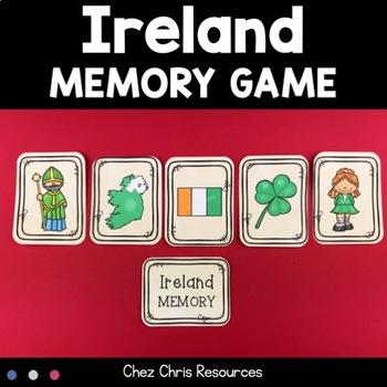 Memory Game - Ireland and Saint Patrick's Day