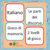 Memory Game, Italian grammar (Le parti del discorso)