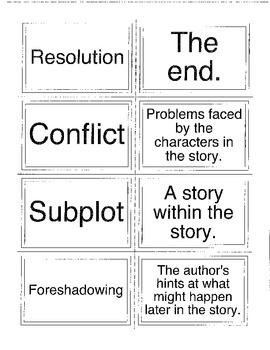Memory Game - Literary Terms, Genre, Figurative Language, Irony