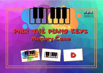 Memory Game - Match the piano key to the note name