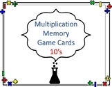 Multiplication Memory Game with the Number 10