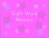 Memory Game: Sight Words