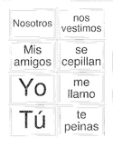 Memory Game - Spanish Present Tense Reflexive Verbs