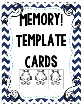 memory game template teaching resources teachers pay teachers