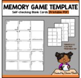 Memory Game Template PDF (with Self-checking borders)