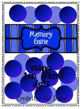Memory Game - Subitizing/Ten Frame Dots