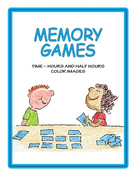 Time, Hours and Half Hours Memory Game