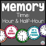 Memory Game: Time to the Hour and Half-Hour