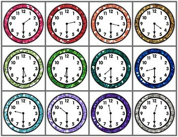 Time to the Hour and Half-Hour Memory Game