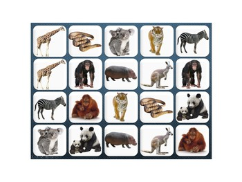 Interactive Memory- Zoo Animals