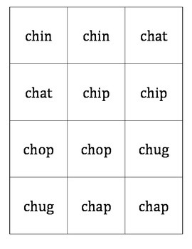 Memory Game for Digraph ch