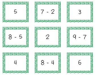 Memory Game of Addition and Subtraction