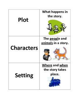 Memory Game to teach Story Structure