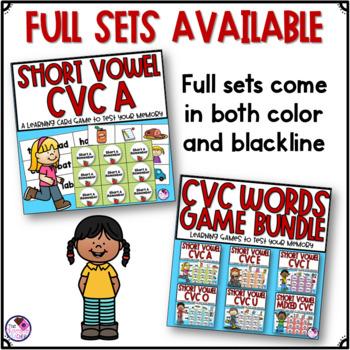 CVC Words Short A Memory FREEBIE