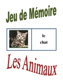 French Animals Memory Game (Can  be used for Flashcards)