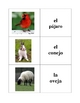 Spanish Animals Memory Game (Can  be used for Flashcards)