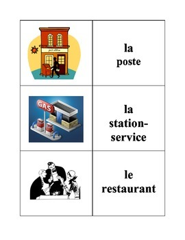 French City Locations Memory Game (Can  be used for Flashcards)