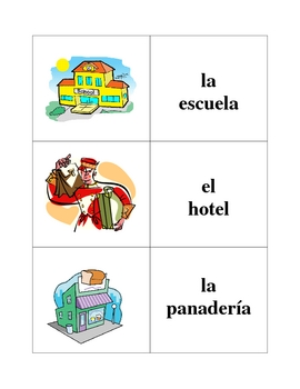 City Locations Memory Game (Can  be used for Flashcards)