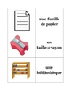 French Classroom Objects Memory Game (Can  be used for Flashcards)