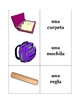 Spanish Classroom Objects Memory Game (Can  be used for Flashcards)