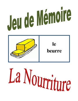 French Food and Drinks Memory Game (Can  be used for Flashcards)