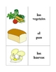 Spanish Food and Drinks Memory Game (Can  be used for Flashcards)