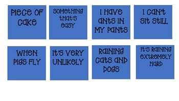 Memory Game with Idioms