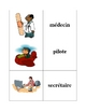 French Jobs and Professions Memory Game (Can  be used for Flashcards)