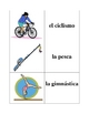 Spanish Sports Memory Game (Can  be used for Flashcards)