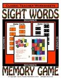 Memory Games - 100 Sight Words (10 Levels)-Beginner-Use for Home Reading Program