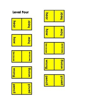 Memory Games-100 Sight Words (10 Levels)-Intermediate-Use for Home Reading Prog.