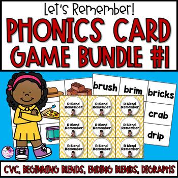 Memory Games 17 Set **BUNDLE** CVC, Beginning Blends, and More!