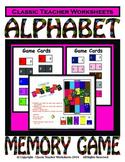 Memory Games-Alphabet Matching Memory Game-Kindergarten Grade 1 (1st Grade)