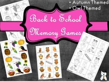 Memory Games: Back to school 2017 - Autumn Themed #BTS2017
