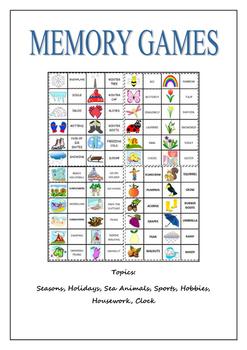 Memory Games Booklet