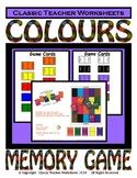 Colours - Matching Memory Game - Kindergarten Grade 1 (1st Grade)